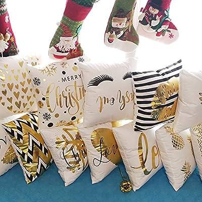 Monkeysell Bronzing Gold Pillow Flannelette Home Pillowcases Throw Pillow Cover Cushion Waist Lumbar Pillow Lips Love Puzzles Pineapple Pattern Design