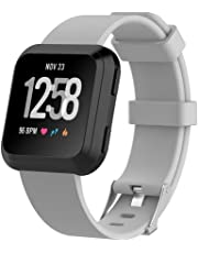 HEYUS Band Strap for Fitbit Versa/Versa Lite, Classic Soft TPU Silicone Adjustable Replacement Bands Fitness Quick Release Sport Bracelet Strap for Fitbit Versa/Lite Tracker