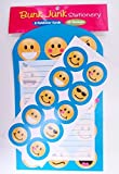 Bunk Junk Emoji Foldable Stationery for Camp and Vacation