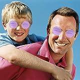Skeleteen Purple Round Hippie Glasses - Purple 60's