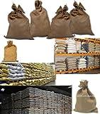 Sacchi tela juta neutri misure cm 45 x 80 sacco agricolo regali natale arredamento
