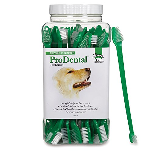 Dual End Toothbrush (Top Performance ProDental Dual-End Toothbrushes — Convenient Toothbrushes for Cleaning Pets' Teeth, 50-Pack)