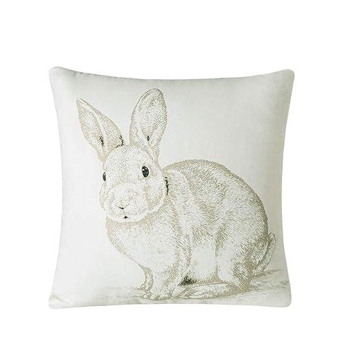 Whoyun - Funda de cojín Decorativa, diseño de Conejo de ...