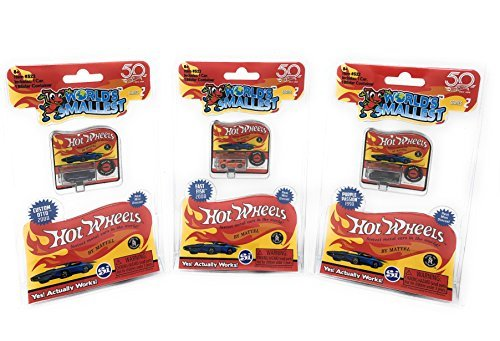 Worlds Smallest Hot Wheels Series 2 Set of 3 Cars - 1990 Purple Passion - 2008 Custom Otto - 2008 Fast Fish