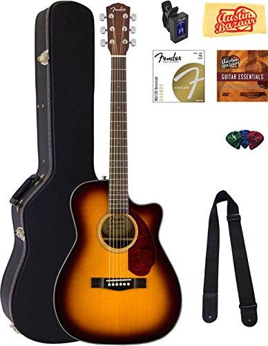fender-cc-140sce-concert-acoustic-electric-guitar-sunburst-bundle-with-hard-case-tuner-strap-strings