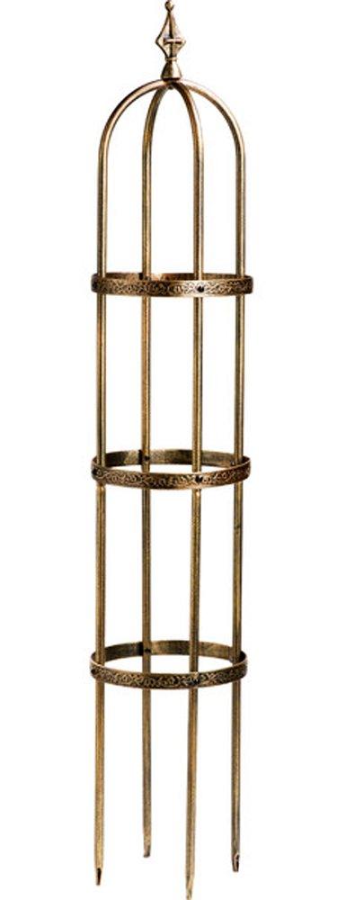 "Garden Obelisk Trellis Outdoor Steel Decorative Tower 60"" H in Antique Copper Finish"