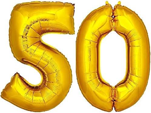 DekoRex® 50 Globo en Oro 120cm de Alto decoración cumpleaños ...