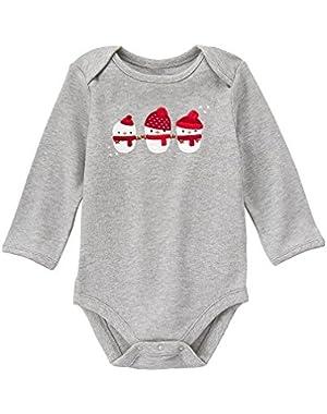 Baby Grey Snowmen Bodysuit