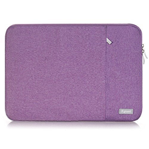 "Laptop Sleeve 15.6 inch,Egiant Water repellent Protective Fabric Notebook Bag Case for Asus F555LA/MB168B/X551,Acer Aspire/Chromebook 15,Dell Inspiron,15.6"" HP Toshiba Lenovo Samsung Computer(Purple)"