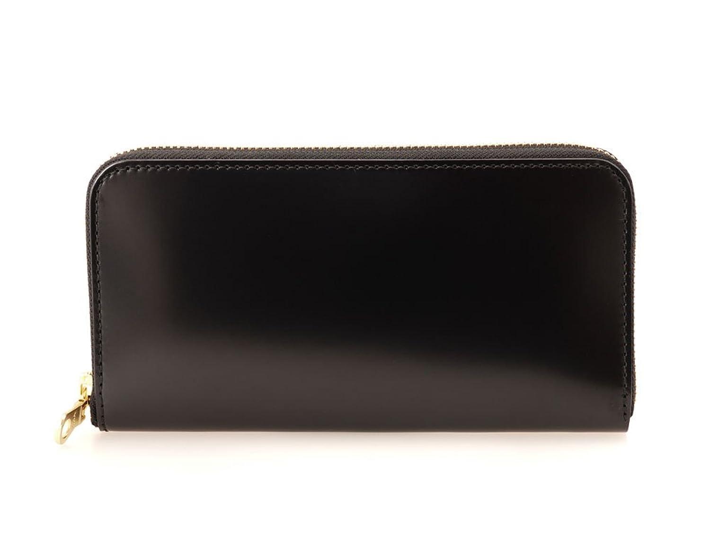 馬革(コードバン) ロング ラウンド ファスナー 財布 ブラック 長財布 黒 馬革 男性用 日本製 Made in Japan B06XZLXX6F