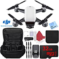 DJI Spark Alpine White Quadcopter Drone Bundle