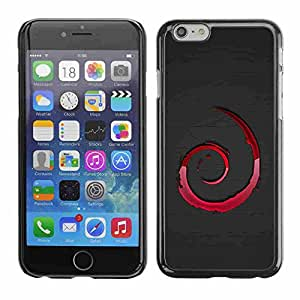 """Shell-Star ( Red Swirls ) Fundas Cover Cubre Hard Case Cover para 5.5"""" iPhone 6 Plus"""