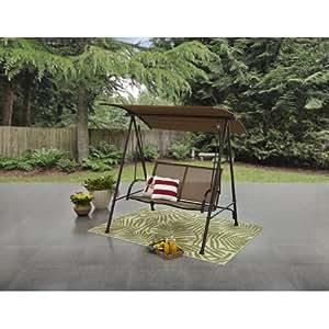 Amazon Com Ozark Trail 2 Person Canopy Porch Swing In
