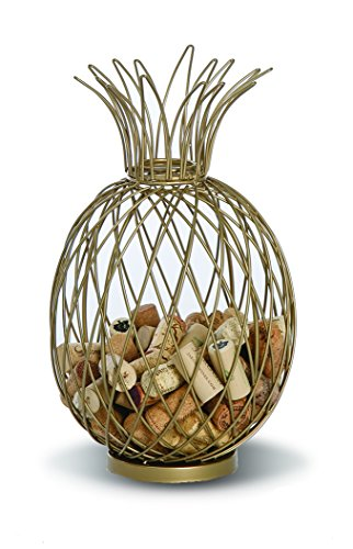 (Pineapple Shaped Cork Caddy Cork Holder Displays and Stores over 60 Wine Corks by Picnic Plus)
