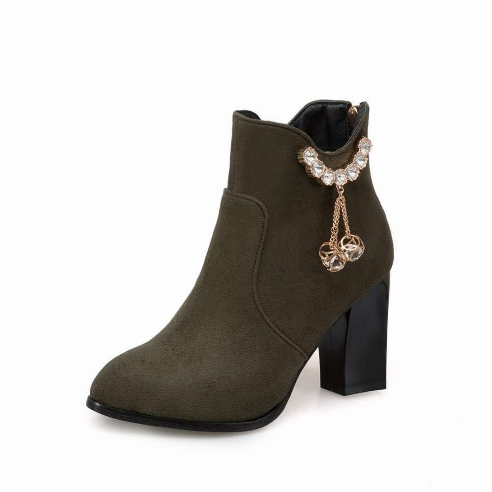 Z&J Frauen Stiefel - - - Winter Große Größe High Heel Stiefelies Martin Stiefel High Heel Dicke Ferse Frauen Stiefel 36-43 149399