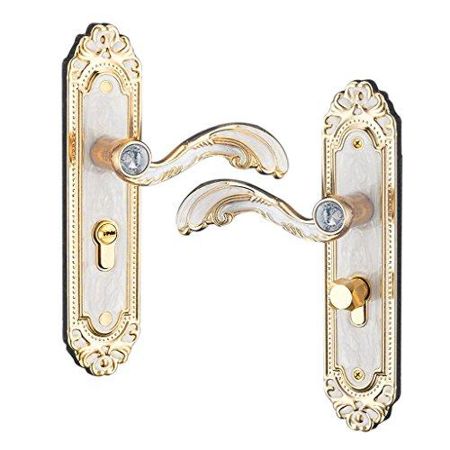 Baoblaze Aluminum Door Handle Sets Lever LATCH LOCK BEDROOM BATHROOMPRIVACY PACKS #2 by Baoblaze (Image #2)