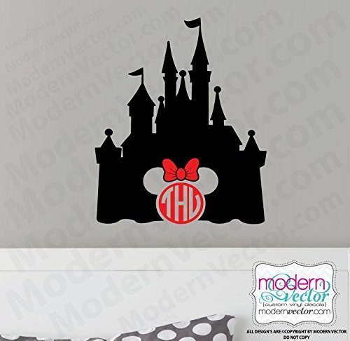 Minnie Mouse Disney Monogram Vinyl Wall Decal