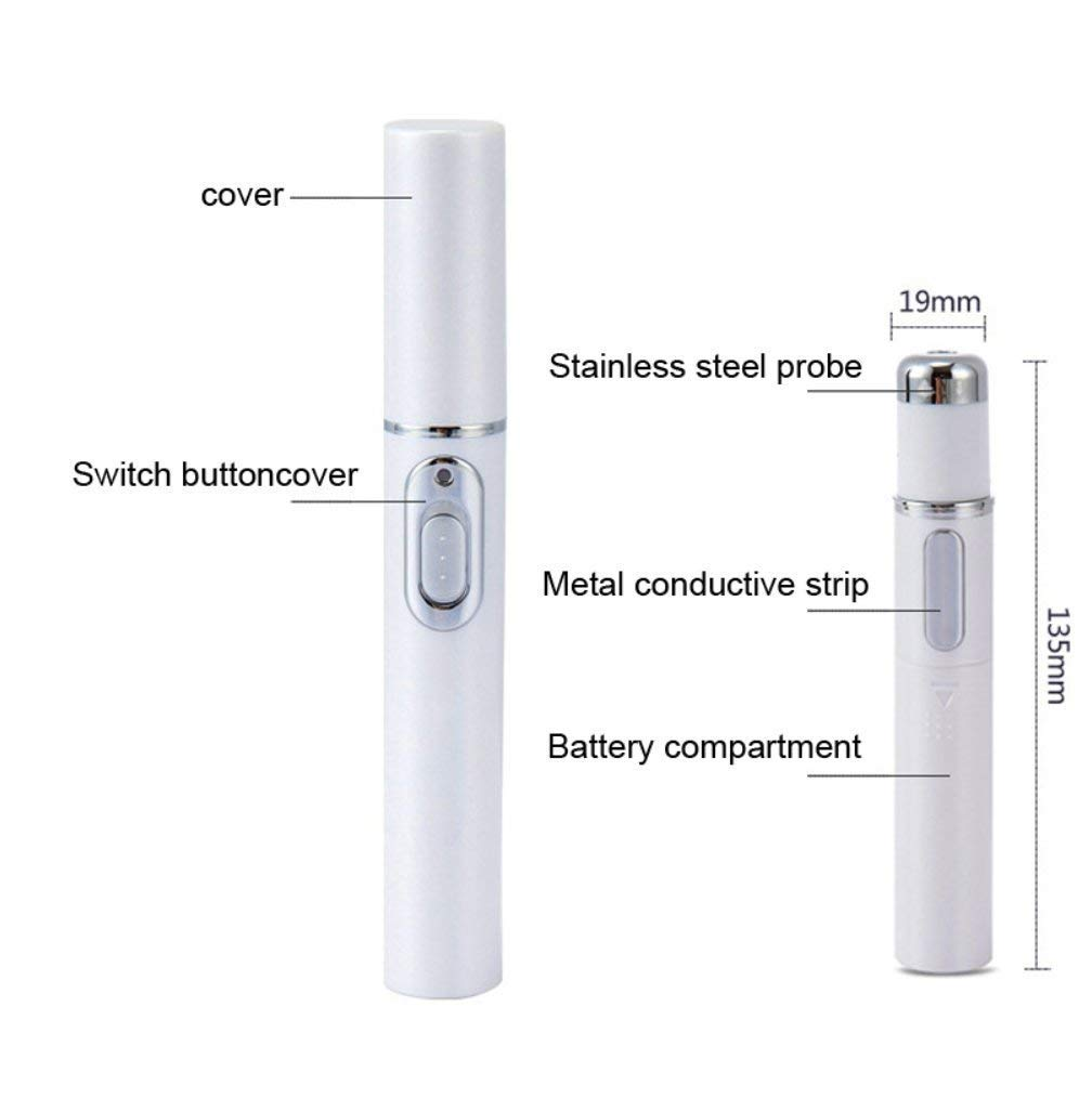 Bymlt Spider Vein Eraser Powerful Anti-varicose Veins Removal Pen Blue Light Machine For Anti-Inflammation, Acne Scar Removal, Improve Skin Elasticity,Skin Tightening Wrinkle Removal Treatment (White) by Bymlt (Image #1)