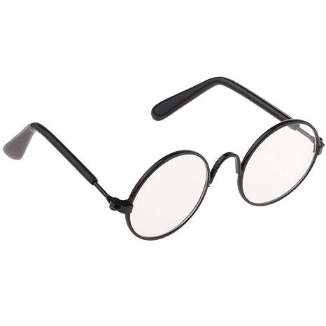 F Fityle Modelo Gafas de Sol en Miniatura para Muñecas Chicas Escala 1:6 - Negro
