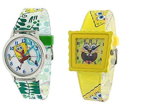 - Nickelodeon SpongeBob Squarepants Childrens Watch - Pack of 2 ***SPECIAL DEAL***