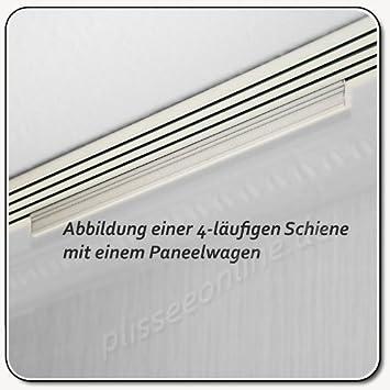 Trendig Aluminium Paneelwagen weiß bepulvert 50cm / für Schiebevorhang  GG65