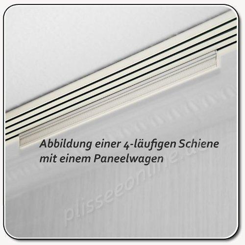 Gut Aluminium Paneelwagen weiß bepulvert 50cm / für Schiebevorhang  IH66
