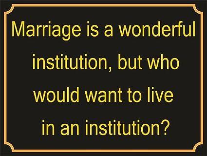 P4079 el matrimonio es una institución magnífica flamante ...