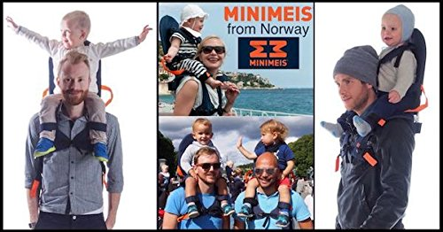 (MINIMEIS G3 Ergonomic Baby & Toddler Shoulder Carrier Backpack | Ultra Lightweight - 3.3 lbs | for Kids 6 Months - 5 Years - Blue)
