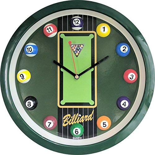 Sterling Gaming Pool Table Clock - Wall Clock Pool