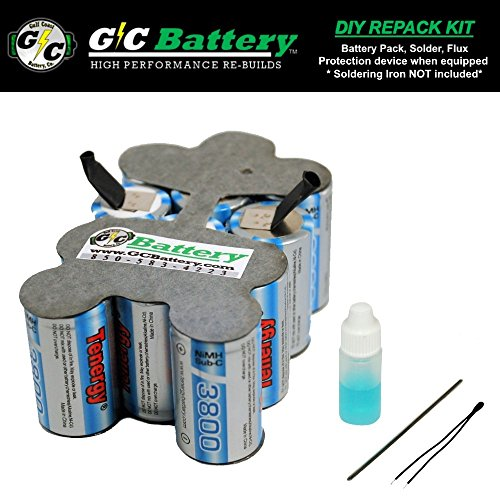G/C Battery Co. Compatible UPGRADED 3.8Ah NiMH DIY REPACK KI