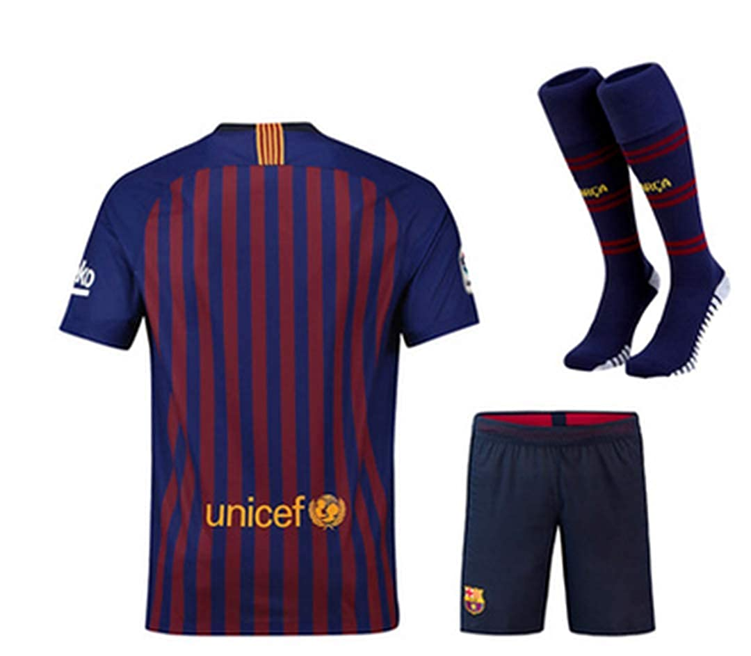 LISIMKE Soccer Team 2018//19 Barcelona Home Mens Replica Jersey:Jersey/&Shorts,Kid Youth Replica Jersey Kit