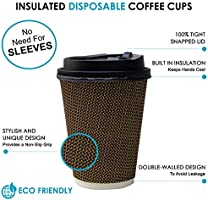 Stylish design double premium disposable paper coffee cups w