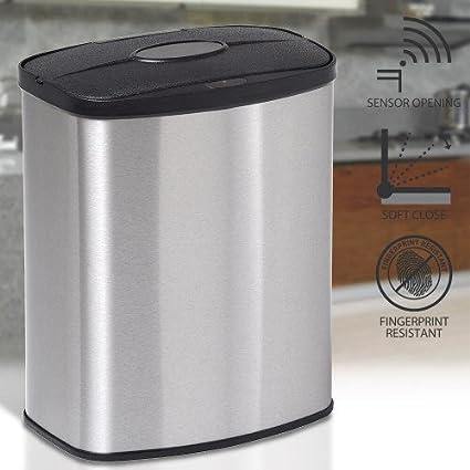 Sensor de Movimiento 8 Litros pequeño mini cuarto de baño dormitorio encimera de cocina encimera reciclaje