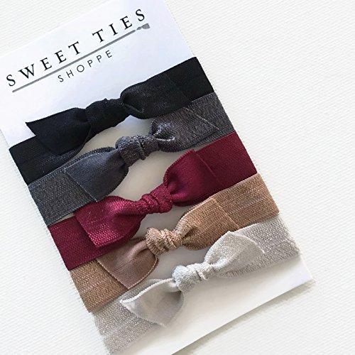 Amazon.com: Bow Hair Ties Neutral: Handmade