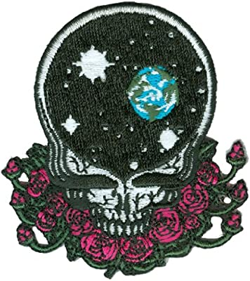 Grateful Dead Steal Your Face Space Skull Iron On Patch Embroidered FAST SHIP