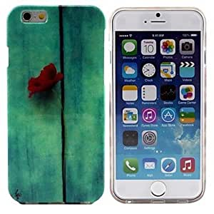 TOPQQ Red Flowers Pattern Design Durable TPU Cover Case for iPhone 6