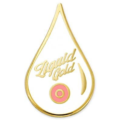 8b887ae846428 Amazon.com  PinMart s Liquid Gold Breastmilk Breastfeeding New Mom Enamel  Lapel Pin  Jewelry