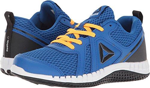Reebok Kids Boy's Print Run 2.0 (Little Kid) Awesome Blue/Lead/Fire Spark/White Athletic Shoe Lead Kids Shoes