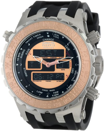 Invicta Men's 12590 Subaqua Analog-Digital Swiss-Quartz Black Watch
