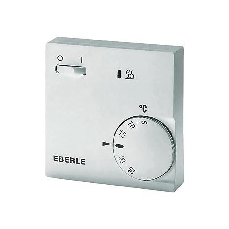 Eberle 111110451100 RTR E 6202 - Termostato con interruptor de apagado/encendido y luz LED