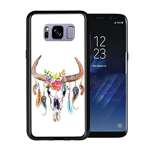Skull with Feathers for Samsung Galaxy S8 2017 Case Cover by Atomic Market