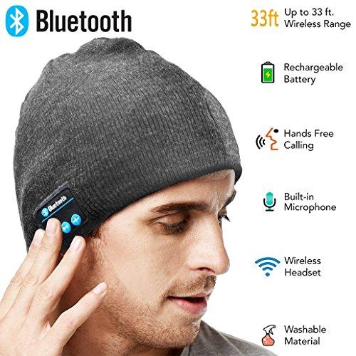 9a3c57c25fe XIKEZAN Unisex Bluetooth Beanie w  Mouth Mask Winter Knit Hat V4.1 Wireless  Musical Headphones Earphones w  Speakers Beanies Hats Cap Unique Christmas  Tech ...