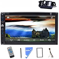 LED Back Camera 7Double 2 Din Car Stereo DVD CD Player TouchScreen Bluetooth iPod TV Car Radio Audio USB/SD Vehicle Stereo Video In Dash CD Player