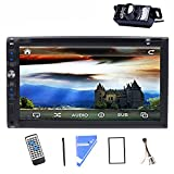 LED Back Camera 7''Double 2 Din Car Stereo DVD CD Player TouchScreen Bluetooth iPod TV Car Radio Audio USB/SD Vehicle Stereo Video In Dash CD Player