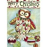 Cheap Carson House Flag 28″ x 40″–Christmas Owl