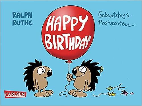 Happy Birthday Geburtstagspostkarten Amazon De Ralph Ruthe Bucher