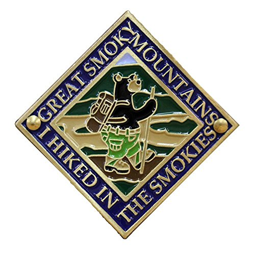 Great Smoky Mountains - Hiking Bear - Hiking Stick Medallion