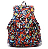 Large Water Resistant Nylon Backpack Purse Lightweight Outdoor Travel Daypack for Women Cycling Hiking Camping Casual Drawstring School Bag for Girls (Cube)