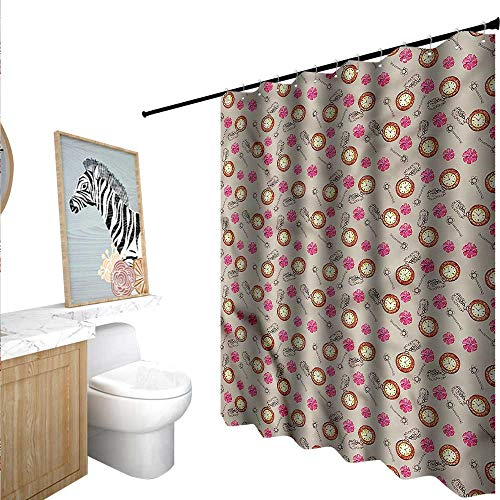 BlountDecor Clock Shower Curtains with Shower Hooks for sale  Delivered anywhere in USA