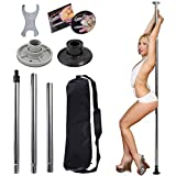 Dance Pole Full Kit Portable Stripper Exercise Fitness Club Party Dancing Silver